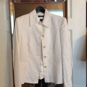 Ralph Lauren white linen jacket